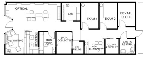 optometry office floor plans floor plan design barbara wright design