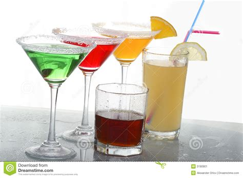 colored cocktails whisky stock image image 3190901