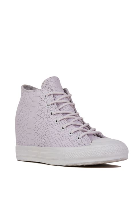 sneaker wedges white converse chuck all embossed reptile mid