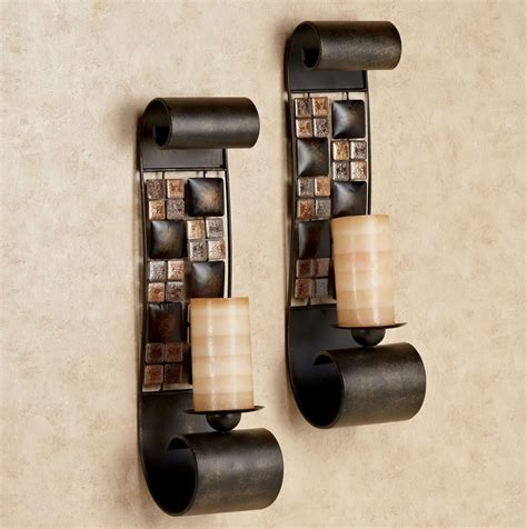 Wall Hurricane Candle Holders by Mosaic Hurricane Candle Holders Home Lighting Design Ideas