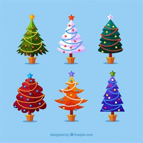 colecci 243 n de 225 rboles de navidad en diferentes colores