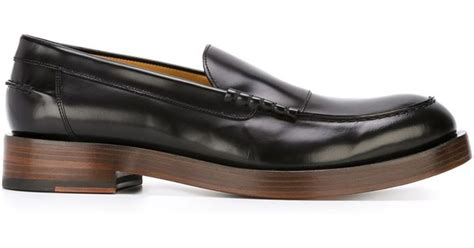 paul smith loafers uk paul smith chunky sole loafers in black for lyst