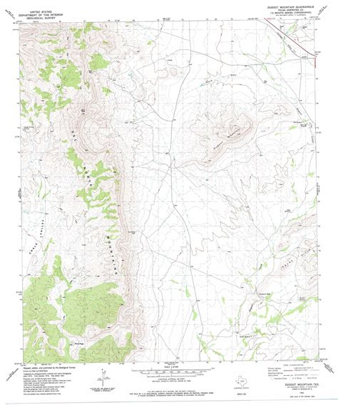 mountain texas map dugout mountain topographic map tx usgs topo 30103b4