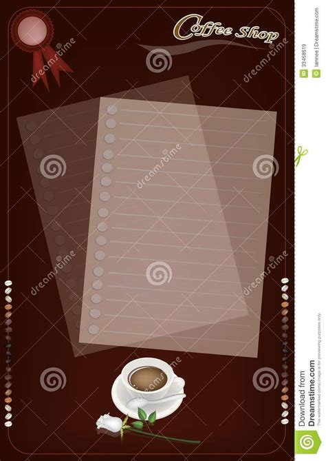 coffee menu wallpaper a coffee menu templatefor cafe and coffeehouse stock image