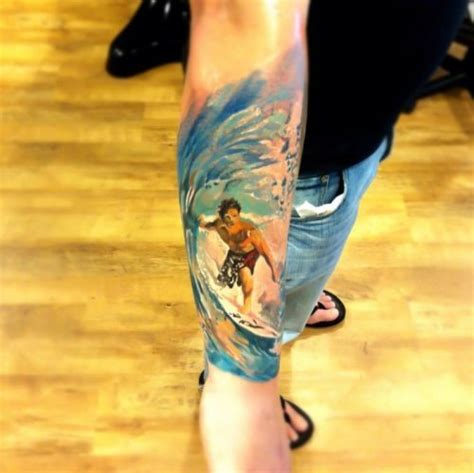 surfer tattoos list of best snowboard ski surf skateboard tattoos 2014