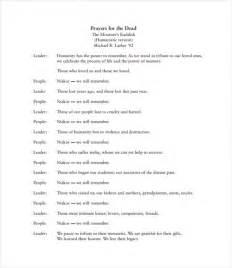 program for memorial service 11 sle memorial program template free sle exle format