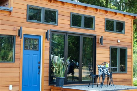 relaxshacks com a luxury tiny house on wheels and its modern tiny cabin on wheels by tiny heirloom