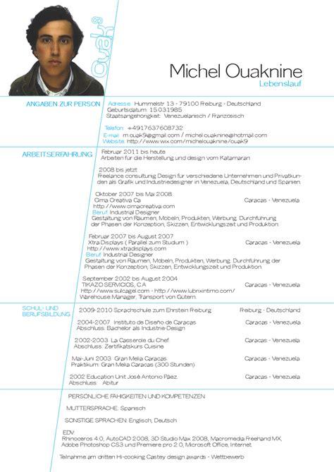 Lebenslauf Cv Michel Ouaknine Curr 237 Culum Vitae Cv Lebenslauf