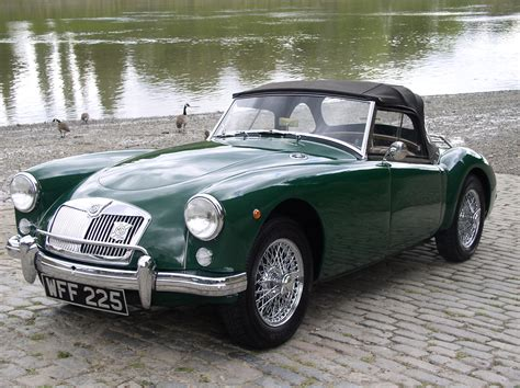 british racing green classic chrome mg a 1500 1958 historic plate british