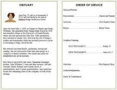 printable funeral program templates on pinterest funeral