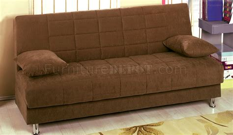 brown material sofa bed hamilton brown fabric sofa bed convertible w storage
