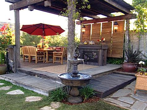 outside home decor ideas how to build a patio ideas on a budget landscaping