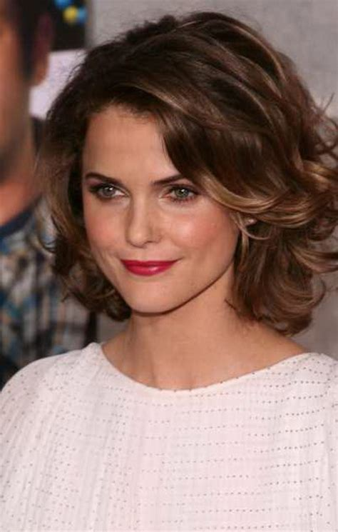 hairstyles for women over 40 wavy medium oval face short layered curly hairstyles