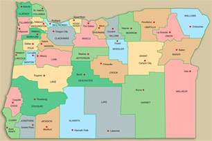 oregon map with counties oregon state county map