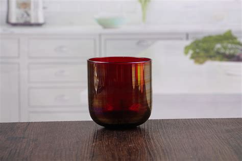 4 Glass Candle Holders by Wholesale High Quality Marroon Glass Candle Holder 4 Inch