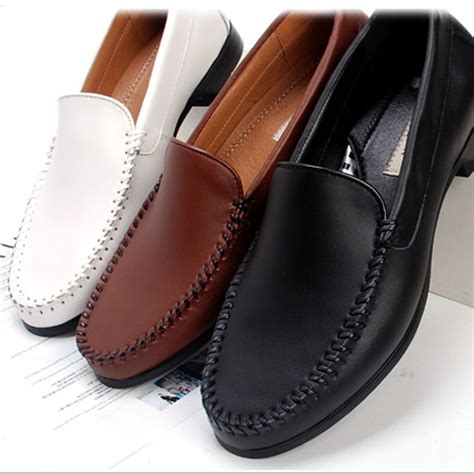 Mens Handmade Leather Shoes - details about new mens casual dress leather shoes loafers