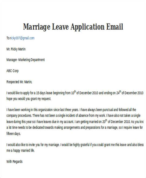 12 leave letter templates free sample example format free
