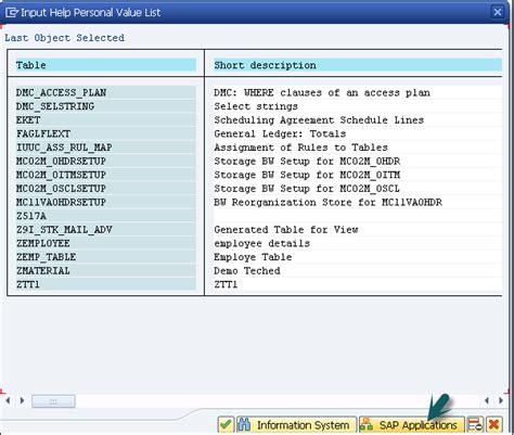sap t code description table sap pp guide