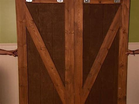 how to make glass doors how to make barn door style blackout shutters how tos diy