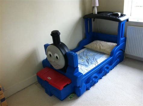thomas train toddler bed little tikes thomas the tank engine boys blue toddler
