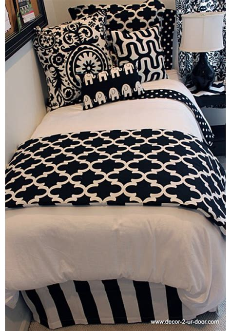 white dorm bedding black and white dorm bedding archives decor 2 ur door