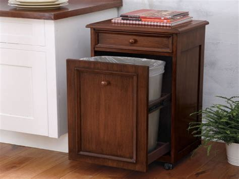 Amish Kitchen Island by Tilt Out Wood Kitchen Trash Cans Wooden Garbage Bins
