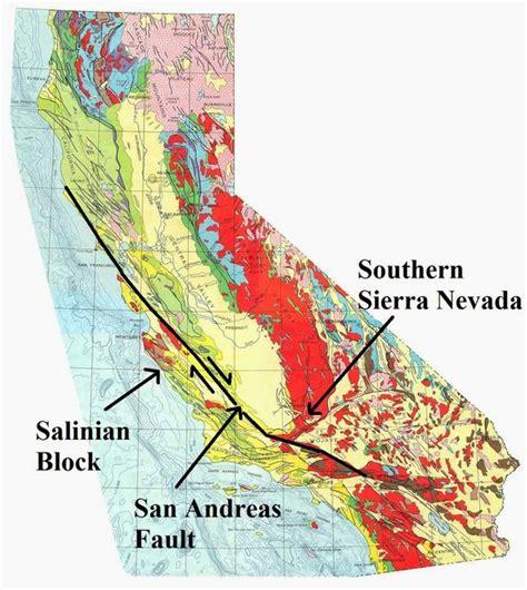 san francisco fault map california geologic map locating the san andreas fault