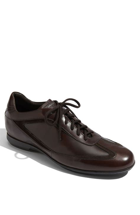 santoni sneakers santoni marlin sneaker in brown for brown