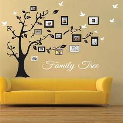Yellow Kitchen Clock - picture frame family tree wall art tree decals trendy wall designs