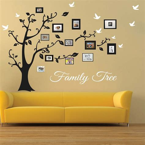 Simple Creative Ideas For Home Decor by Picture Frame Family Tree Wall Art Tree Decals Trendy
