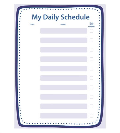 create a printable daily schedule school schedule template 13 free word excel pdf