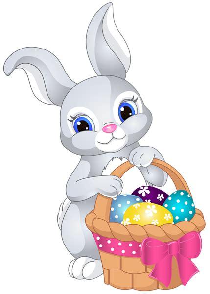 Kaos Bunny And Egg Basket Drawing easter bunny with egg basket png clip image h 250 sv 233 ti