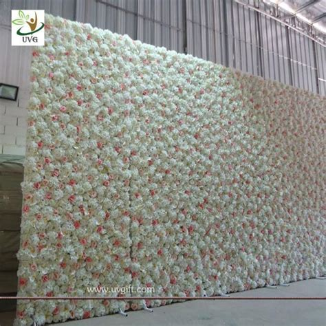 UVG artificial rose and hydrangea flower wall for wedding