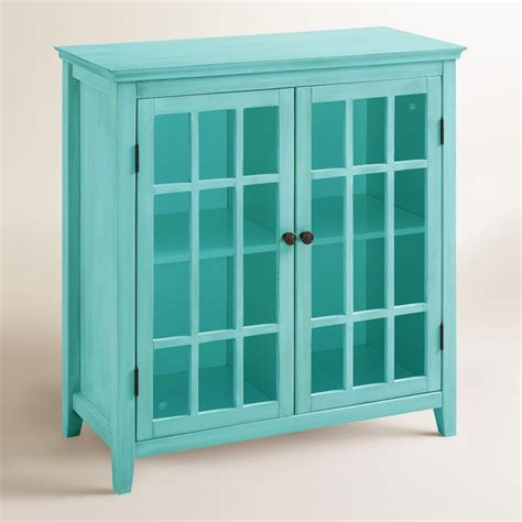 Small Media Cabinet With Doors Antique Turquoise Door Storage Cabinet Everything Turquoise