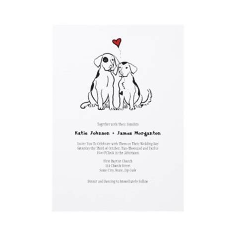 Hochzeitseinladung Hund by Puppy Wedding Invitation Two Spotted Dogs Wedding