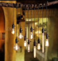 Diy Edison Bulb Chandelier Retro Industrial Diy Black Ceiling L Pendant Lighting