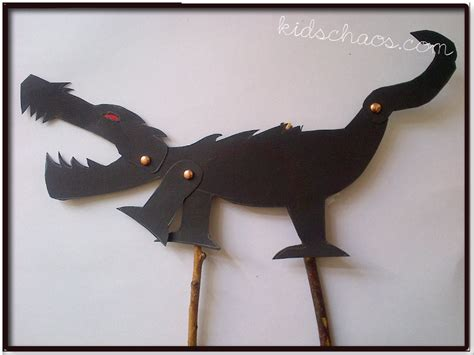 How To Make Paper Shadow Puppets - stick crafts shadow puppet kidschaos