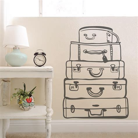 travel wall art travel bags wall art decal