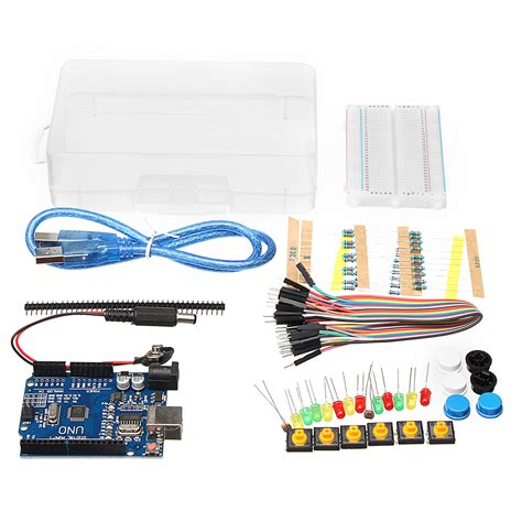 basic starter kit uno r3 mini breadboard led jumper wire button for arduino with box alex nld