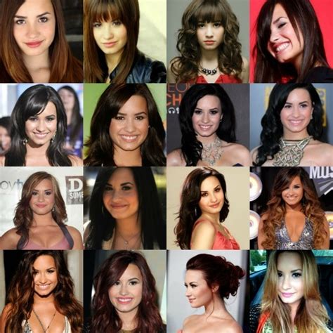show me different hair colours post a pic of all the different color hair demi s had