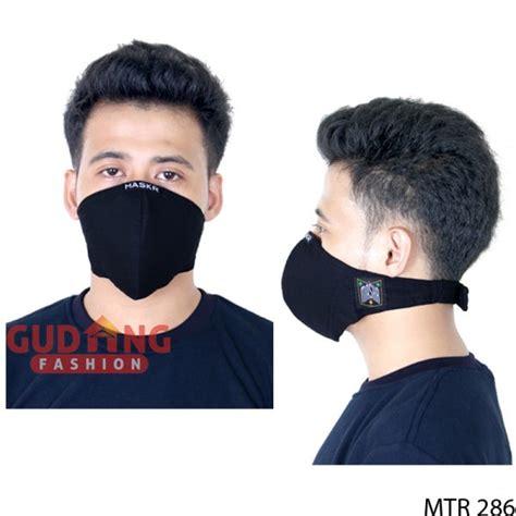 Masker Untuk Pengendara Motor masker keren untuk pengendara motor kain hitam mtr 286