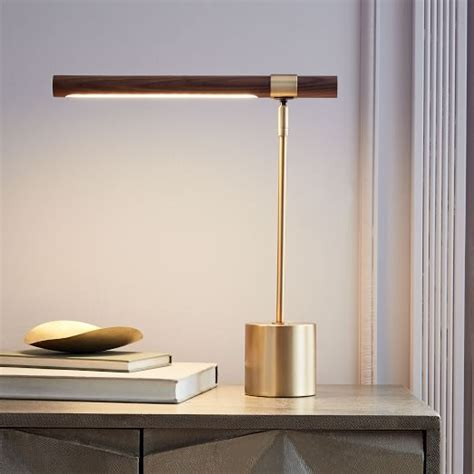 West Elm Dining Room by Linear Wood Led Table Lamp West Elm