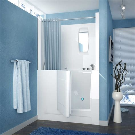 Showers And Tubs For Small Bathrooms Walk In Tubs And Showers Combo