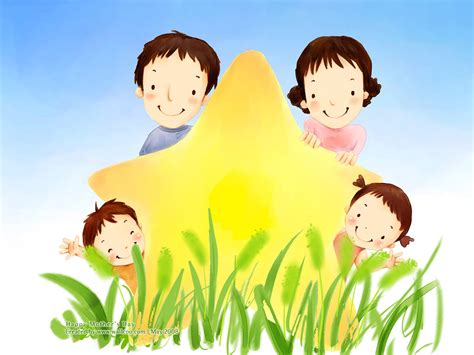 wallpaper cartoon family high resolution cartoon illustraion of family love