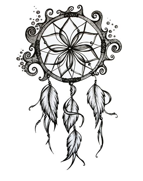 dreamcatcher template catcher drawing sketch coloring page