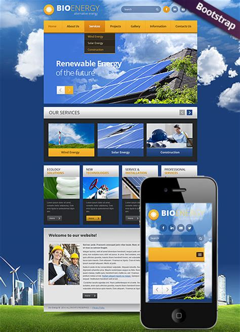 bootstrap themes energy bio energy bootstrap template id 300111769 from simavera com