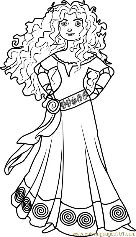 princess merida coloring page princess merida coloring page free disney princesses