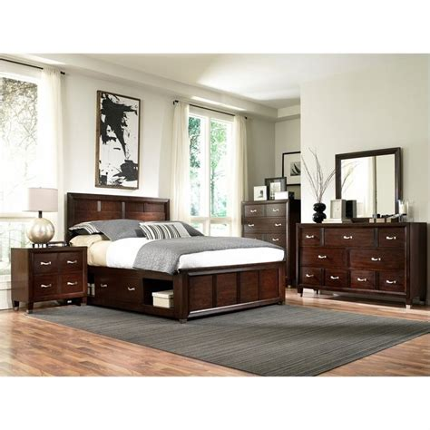 storage bedroom sets broyhill eastlake 2 single storage 4 bedroom set in brown cherry 4264 4pc