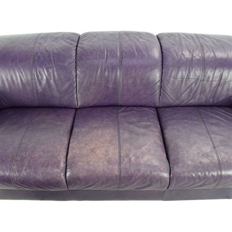sofas with ottomans 85 off himolla himolla purple leather sofa with ottoman