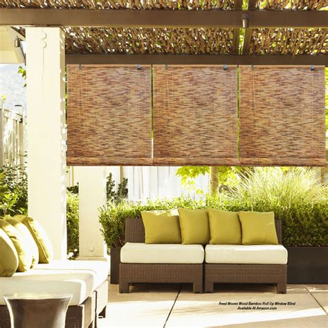 Decorating Ideas For A Mobile Home roll up porch shades for comfort and privacy
